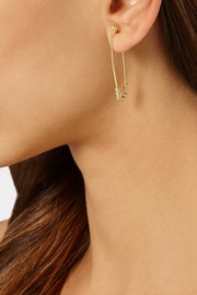 Ileana Makri Safety Pin 18-karat gold diamond earring