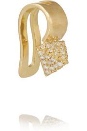 Ileana Makri Pyramid 18-karat gold diamond ear cuff