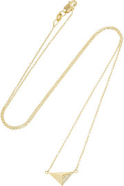 Ileana Makri Pyramid 18-karat gold diamond necklace