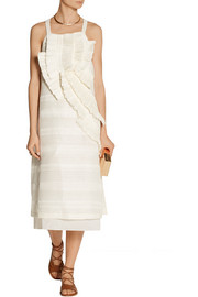 Maiyet Ruffled linen and silk-blend midi dress