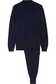Wool and cashmere-blend tracksuit