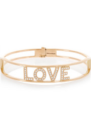 Spallanzani Jewels Love 18-karat rose gold diamond bracelet