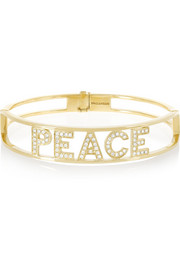 Spallanzani Jewels Peace 18-karat gold diamond bracelet