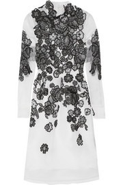 Effie embroidered silk-organza dress