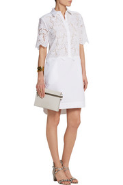 Breeson lace and piqué shirt dress