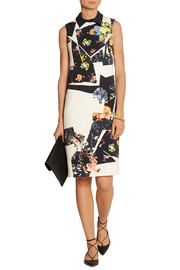 Floral-print stretch-crepe dress