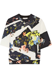 Erdem Kia floral-print stretch-neoprene top