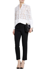 Erdem Beatrix lace and cotton-blend piqué shirt