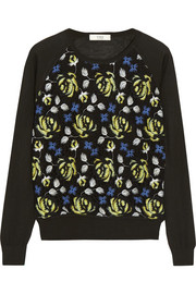 Erdem Carmen fine-knit and crocheted lace sweater