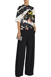 Birte stretch-crepe wide-leg pants