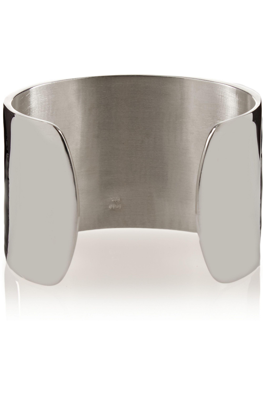EYE M by Ileana Makri Enameled silver cuff