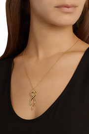 IAM by Ileana Makri Boa gold-plated sapphire necklace