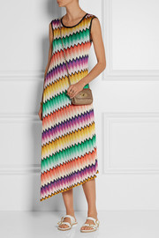 Missoni Asymmetric crochet-knit midi dress