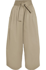 TOME Cotton-blend sateen wide-leg pants