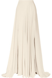Silk crepe de chine maxi skirt