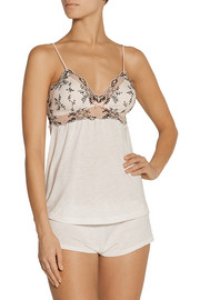 Paloma lace-paneled stretch-jersey camisole