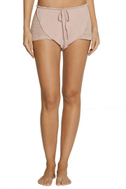 Eberjey Rosette stretch-knit and jersey pajama shorts