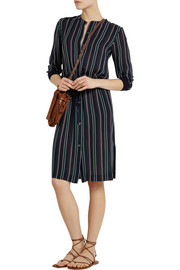 Theory Stellina striped silk-georgette dress