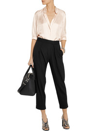 Theory Bitor cropped stretch-jersey tapered pants