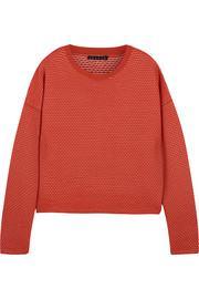 Theory Tamrist textured-knit sweater