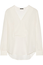 Theory Corbette silk-georgette blouse