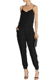 Theory Stassia silk-georgette jumpsuit