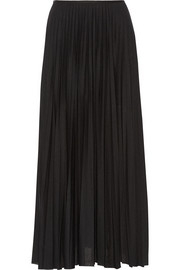 Miklo pleated jersey maxi skirt