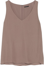 Martosh silk-georgette top