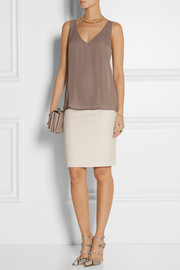 Theory Martosh silk-georgette top