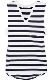 Crelle striped cotton-jersey top