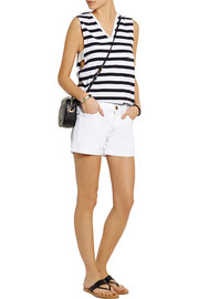 Theory Crelle striped cotton-jersey top