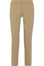 Korene stretch linen-blend tapered pants
