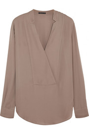 Corbette silk-georgette blouse