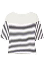 Theory Cibella striped Pima cotton top