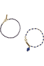 Isabel Marant Set of two gold-tone, crystal and enamel bracelets
