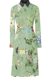 Gucci Floral-print crepe shirt dress