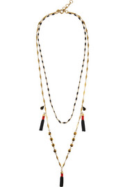 Tassel gold-tone necklace