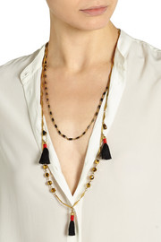 J.Crew Tassel gold-tone necklace