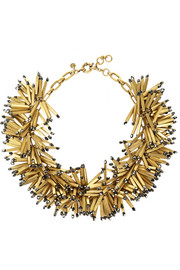 Fireburst gold-tone beaded necklace