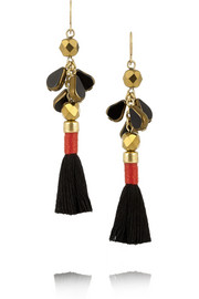 Gold-tone tassel earrings