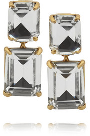 J.Crew Gold-tone crystal earrings