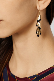 J.Crew Enameled gold-tone earrings