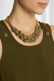 J.Crew Braided gold-tone necklace