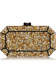 Fiona glittered acrylic box clutch