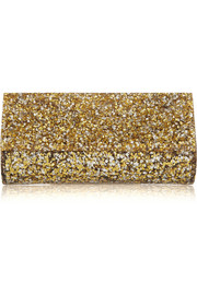 Kate glittered acrylic clutch