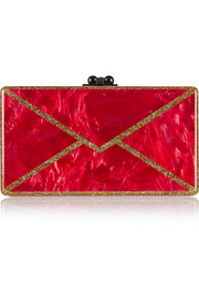 Jean Envelope glittered acrylic box clutch