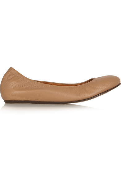 Lanvin - Leather Ballet Flats - Tan