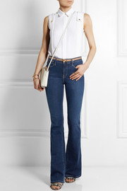 Derek Lam Pintucked silk-crepe top