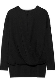 Derek Lam Wrap-effect cashmere and silk-blend sweater