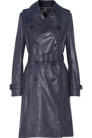 Townsend leather trench coat